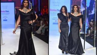 Karishma Tanna Sets Fans Heartbeat Accelerating With Her Gorgeous Look in Black Bow-Tie Gown