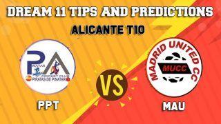 PPT vs MAU Dream11 Team Prediction, ECS - Alicante T10, Final: Captain And Vice-Captain, Fantasy Cricket Tips Pinatar Pirates vs Madrid United at Sporting Alfas Cricket Club, Alicante 9:30 PM IST