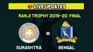 Live Cricket Score Saurashtra vs Bengal, SAU vs BEN, Ranji Trophy 2019-20 Final, Day 1