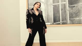 Sonam Kapoor's Black Suited Outfit With Plunging Neckline Makes Her True Boss Lady