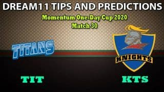 TIT vs KTS Dream11 Team Prediction, Momentum One-Day Cup 2020, Match 30: Captain And Vice-Captain, Fantasy Cricket Tips Titans vs Knights at SuperSport Park, Centurion 1:30 PM IST