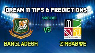 Dream11 Team Prediction BAN vs ZIM, 3rd ODI: Captain And Vice-Captain, Fantasy Cricket Tips Bangladesh vs Zimbabwe Sylhet International Cricket Stadium, Sylhet 1:30 PM IST