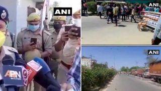 यूपी पुलिस टीम पर भीड़ ने किया हमला, IPS अफसर घायल, पुलिस चौकी जलाने की कोशिश