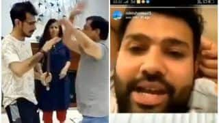 Rohit Sharma Reacts on Yuzvendra Chahal's Funny TikTok Video With Father During Chat With MI's Jasprit Bumrah Amid COVID-19 Lockdown | WATCH VIDEO