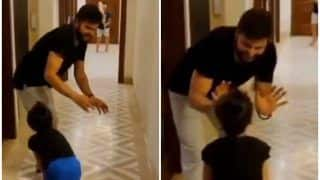 CSK's Suresh Raina Plays Indoor Cricket With Daughter Gracia During COVID-19 Lockdown | WATCH VIDEO