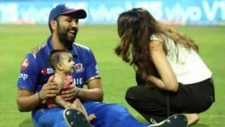 WATCH: Rohit's Daughter Tries to Copy Bumrah & It's Super Cute