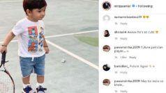 सानिया मिर्जा के बेटे इजहान ने टेनिस कोर्ट पर रखा कदम, फैंस ने FUTURE का आंद्रे अगासी बताया