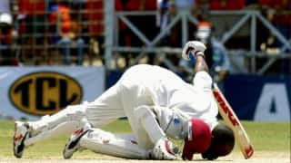 On this day today in 2004 brian lara became 1st only player to score 400 runs in test cricket 3997478
