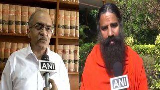 सीनियर वकील प्रशांत भूषण ने ट्वीट करके योगगुरु बाबा रामदेव से मांगी माफी
