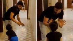 Covid-19 lockdown: घर में प्रैक्टिस को मजबूर सुरेश रैना, बेटी ग्रेसिया बनी अंपायर, देखें VIDEO