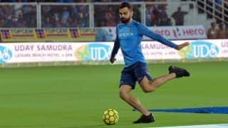Virat kohli plays football in warm up like it is the fifa world cup final says nasser hussain 3997999
