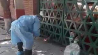 Shocking: Water, Biscuits Tossed From Outside At Agra Quarantine Centre | Watch Viral Video