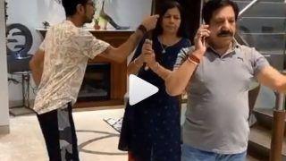VIDEO: मां ने युजवेंद्र चहल को 'पापा' से पिटवाया, लिया बचपन की शरारतों का बदला