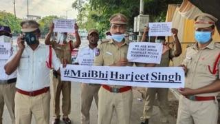 Telangana Police Pays Tribute to Punjab Cop, Joins 'Main Bhi Harjeet Singh' Campaign in Solidarity