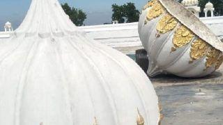 One Spell of Storm And Domes Fell Off Kartarpur Sahib Gurdwara   See Photos