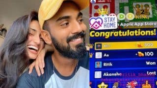 Kl rahul wins online ludo against athiya shetty shares the screenshot of his victory 4010478