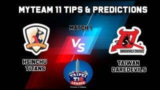Titans vs Daredevils MyTeam11 Team Prediction Cricket, Taipei T10 League: Captain And Vice-Captain, Fantasy Cricket Tips , Yingfeng Ground, TPE, 9:00 AM IST