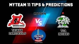 Daredevils vs TCA MyTeam11 Team Prediction Today, Taipei T10 League: Captain And Vice-Captain, Fantasy Cricket Tips, Yingfeng Ground, TPE, 9:00 AM IST