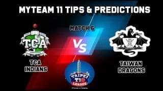 TCA vs TDCC MyTeam11 Team Prediction Today, Taipei T10 League: Captain And Vice-Captain, Fantasy Cricket Tips, Yingfeng Ground, TPE, 1 PM IST