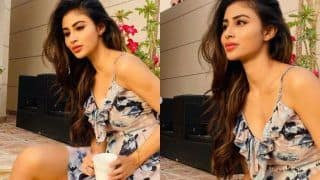 Mouni Roy Enjoys 'Sunset' And Evening Coffee During This Lockdown Period, Looks Sizzling Hot in Floral Dress