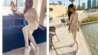 Mouni Roy Misses Her Sunday Outings Amid Coronavirus Lockdown, Shares Sultry Pictures in White Crop Top, Jeggings