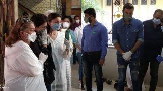 Rishi Kapoor's Funeral Pics: Alia Bhatt Consoles Grieving Neetu Kapoor, Kareena-Saif Also Attend