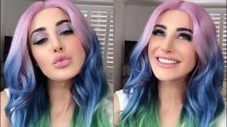 Nargis Fakhri's Candy Floss Hair-Unicorn Makeup Leaves Fans Wide-Eyed, Rockstar Actor Blames it on Boredom | Watch