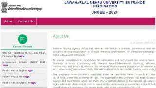 NTA ने JNUEE 2020 के लिए आवेदन करने की बढ़ाई डेट, इस तारीख तक भर सकते हैं फॉर्म