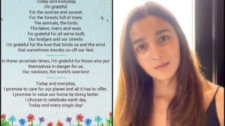 Entertainment News Today April 23, 2020: Alia Bhatt's Sweet Lines on Nature Are Perfect Thursday Thoughts, Neetu Kapoor Left Smitten Over Viral Video