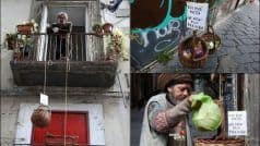 Naples' 'Supportive Basket' For Homeless Inspires Twitterati as Italy Struggles to Contain COVID-19