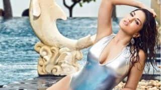 Sunny Leone's Sexy Silver Monokini Look as She Strikes Sultry Pose in The Pool is Too Hot to Handle