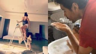 Neha Dhupia's 'Fan Moment' And Angad Bedi's Fun Video With Daughter Mehr as She Turns 17-months Old is All New Parents Ever!