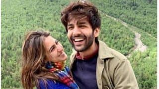 Kartik Aaryan - Sara Ali Khan's Never-Seen-Before Picture From The Sets of Love Aaj Kal