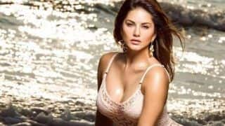 Sunny Leone Looks Smouldering Hot in Sexy Lace Monokini as She Strikes Seductive Pose on Beach