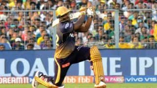 MI vs KKR Dream11 IPL: Andre Russell Breaks Camera With a Brutal Shot During Training | WATCH