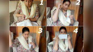 Smriti Irani Stitches Face Masks at Home, Encourages Others to Follow Lockdown Guidelines And Help The Needy