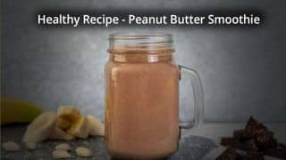 Watch: You Can Make This Peanut Butter Smoothie in Less Than a Minute