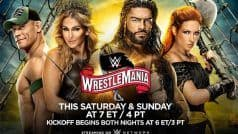 WrestleMania 36 - Full Match Card, Where to Watch, Date And Start Time and How to Watch
