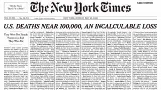 'An Incalculable Loss': New York Times Dedicates the Entire Sunday Front Page With Names of Coronavirus Victims