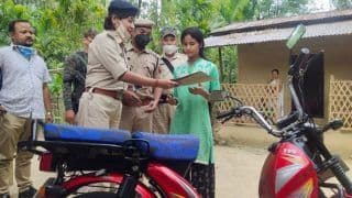 Assam Police Gifts Girl Selling Vegetables to Support Family During COVID-19 Crisis a Motorbike