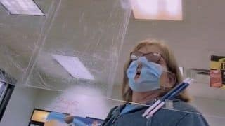 Covidiot: Not Understanding Purpose, Woman Cuts Hole in Her Face Mask so She Can Breathe