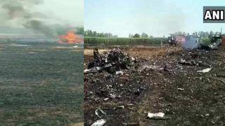 इंडियन एयरफोर्स का फाइटर जेट Mig-29 क्रैश हुआ, पायलट की बची जान