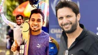COVID-19: Shahid Afridi Buys Mushfiqur Rahim's Bat For $20,000 on Behalf of His Foundation