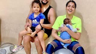 Suresh raina posted first picture of son suresh raina posted first picture of son urge people to speak against child abuse domestic violence 4019307