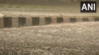 Heavy Rain, Hailstorm Lash Parts of Delhi-NCR, Bring Temperature Down