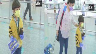 लॉकडाउन में 3 महीने से मां से दूर था 5 साल का विहान, विमान से अकेले सफर कर दिल्ली से पहुंचा बेंगलुरु