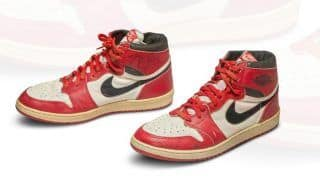 Sneakers Worn By NBA Legend Michael Jordan Auctioned For Record-Breaking $5,60,000