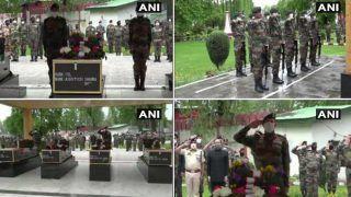 आर्मी ने शहीद कर्नल आशुतोष शर्मा, मेजर अनुज सूद, नायक राजेश कुमार, लांस नायक दिनेश सिंह को दी विदाई