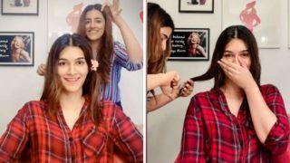 Kriti Sanon Gets Quarantine Haircut From Sister Nupur Sanon, Fans Say 'She is Multitalented'