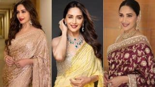 Madhuri Dixit-Approved Sarees That Will Show You How to Rock The Perfect Bling in Your Wardrobe
